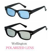 ★sunglasses★  ウェリントンタイプ 偏光レンズ&ブルーライトカット  サングラス【全2色】