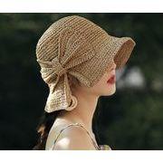 草編み帽子 2021夏新作 ハット サファリハット レディース帽子 日焼け止め 紫外線対策