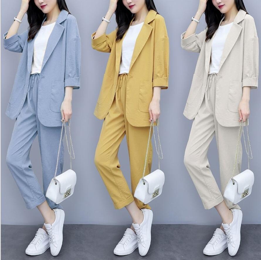超人気韓国気質無地シンプルスモールスーツジャケットハーフスカートツーピーススーツ通勤女性美
