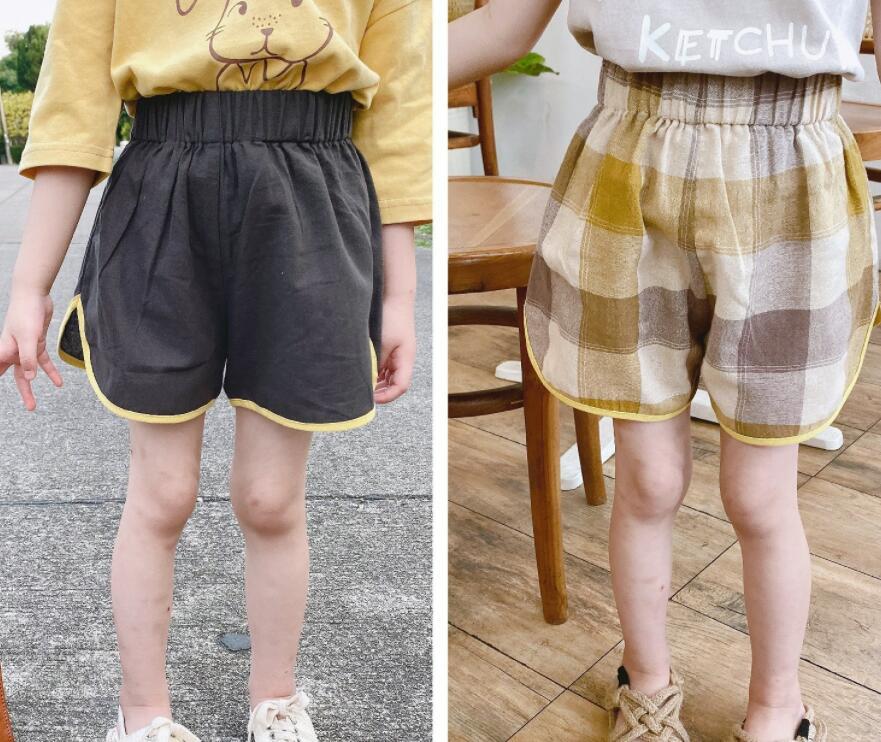 パンツ 半ズボン 子供服 子ども キッズ 綿麻 新作 かわいい シンプル 人気