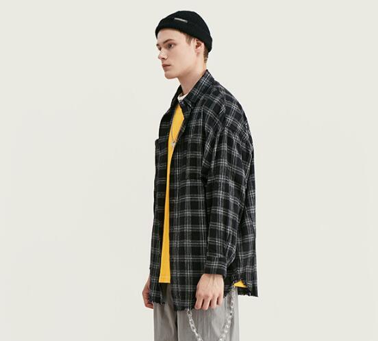 シャツ ジュアル ショールカラー チェック メンズ レディース カップル SALE  ファッション 長袖