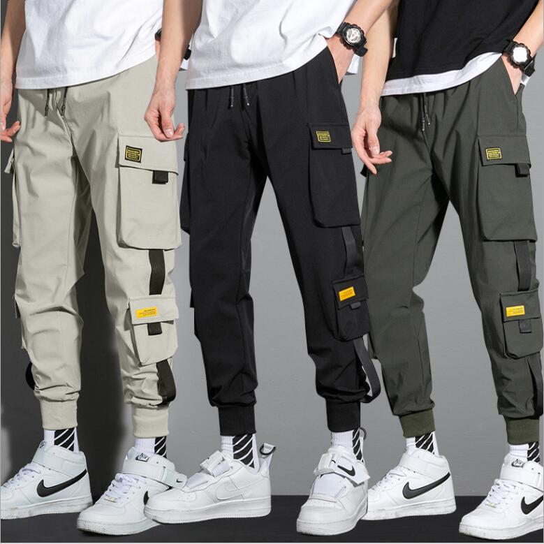 韓国ins工装ズボン メンズ ファッション 直筒ズボンゆったり 百合わせ カジュアルなズボン 潮流ズボン
