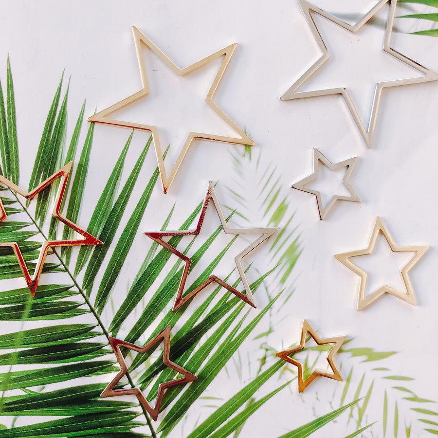 手芸 素材 ゴールド レジン空枠 シルバー レジン材料 星型 スター 金 銀 メタルパーツ アクセサリーパーツ