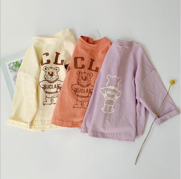 春夏新作 子供シャツ キッズ服 英字ブラウス トップス 韓国ファッション tシャツ カジュアル系