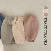 【KID】韓国風子供服 ベビー服 ロング丈パンツ ワイドパンツ 無地 韓国ファッション