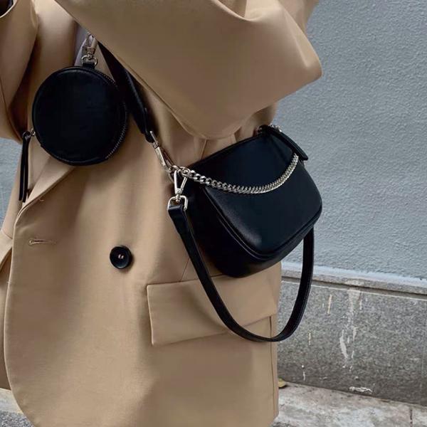 【Women】2021年春夏新作 韓国ファッションショルダーバッグ ハンドバッグ 無地 通勤