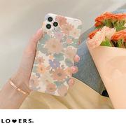 アートフラワースマホケース ma 【即納】iPhone12 promax 11 7/8 ケース mini 韓国 レディース 花柄