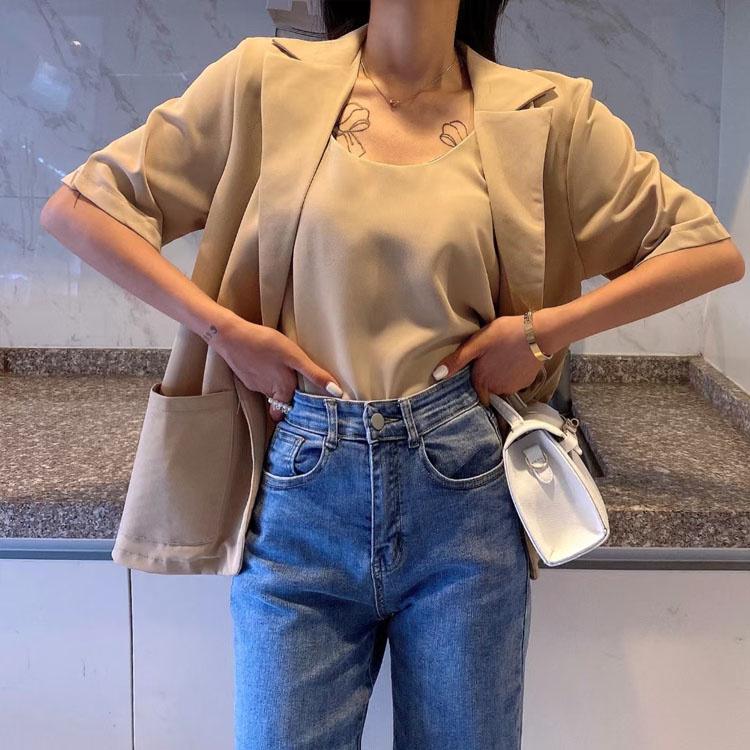 注目すべきアイテム!韓国ファッション サマー 半袖 ビジネススーツ ジャケット シンスタイル