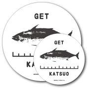 釣りステッカー カツオ 鰹 Eタイプ 2枚セット FS085 フィッシング ステッカー 釣り グッズ