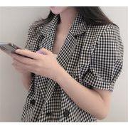 女性らしさ満点の魅力スタイルを 激安セール チェック柄 エレガント 半袖