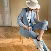 韓国人気ファッションスーツジャケットセットアップレディース通学通勤 オシャレ