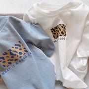 2021夏 子供シャツ  半袖 ヒョウ柄 トップス 男の子 女の子tシャツ 80-130cm