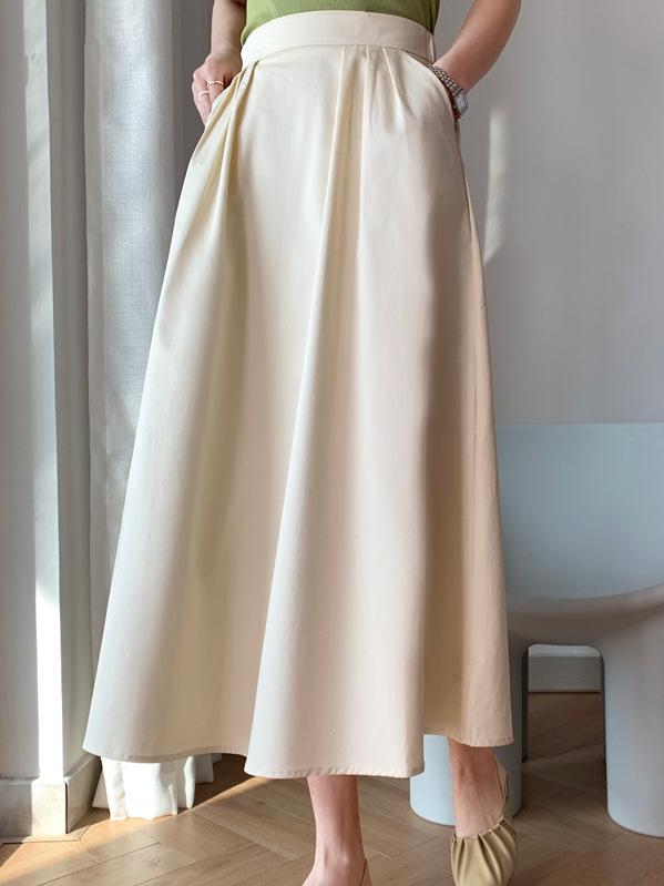 2021年春夏新作 レディース 韓国風 スカート 無地 ハイウェスト 気質 通勤 ファッション 3色M-L