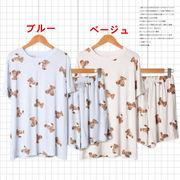 小さなクマ パジャ マ スーツ セット 女 夏 新しいデザイン 短袖+パンツ