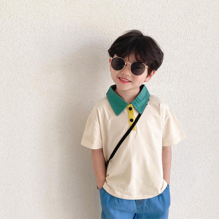 POLOシャツ 子供服  Tシャツ韓国風 男の子 女の子  キッズ トップス アウター おしゃれ