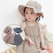夏 ベビー服 赤ちゃん カバオール 韓国スタイル 半袖 ロンパース 帽子付き ワンピース 女の子 キッズ服