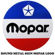 ラウンドメタルサイン MOPAR LOGO