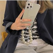 大人旬Style!大人気ビッグパール チェーン 該当するiphone 携帯電話ケースシリコンアンチドロップカバー