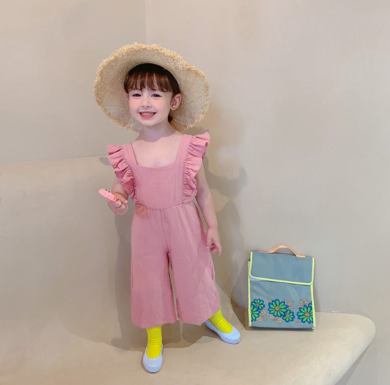 女の子 キュート サロペット ズボン 3-8歳 子供服  韓国子供服 キッズ