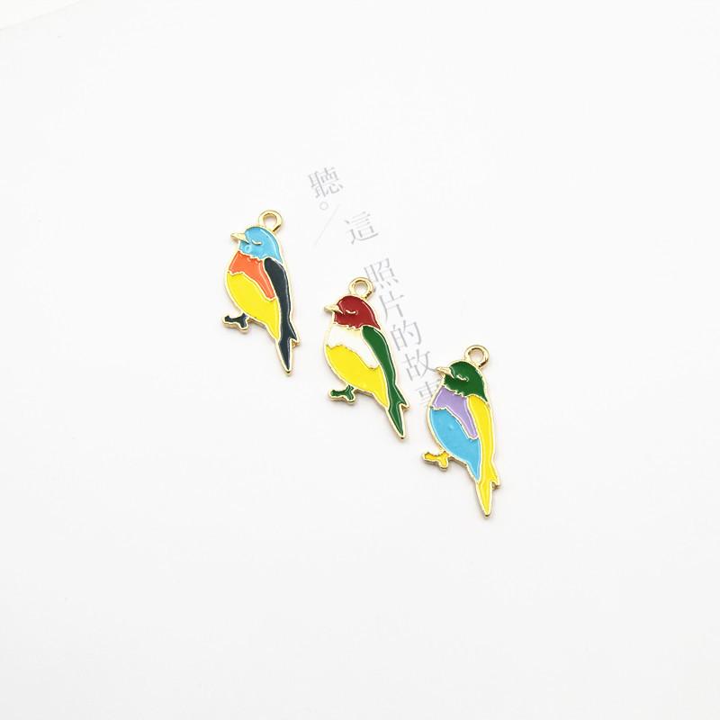 ヘアアクセサリーパーツ DIY アクセサリー ハンドメイド チャーム 鳥 ピアス パーツ エポパーツ 手作り素材
