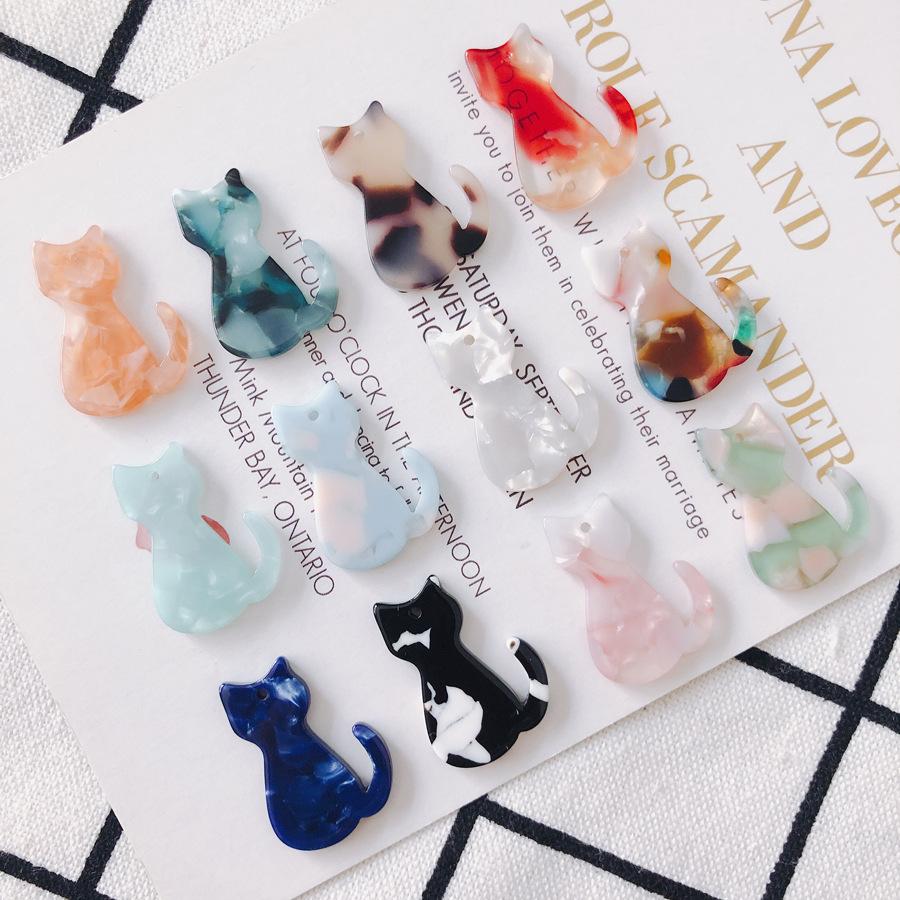 【即日発送】デコパーツ アクリルパーツ お座りの猫 アクセサリーパーツ アクセサリー資材 DIY 手作り