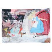 【枕】ふしぎの国のアリス 枕カバー グレー アリスと白うさぎ
