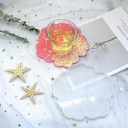 母の日 ハンドメイド アクセパーツ ゴム型 UVレジン 石膏粘土 鏡面シリコンモールド コースター トレー 桜