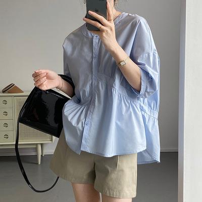 2021年春夏新作 レディース 韓国風 シャツ ゆったりする 大好き 通勤 ファッション 2色M-L