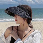 サンバイザー つば広 紫外線99%カット UVカット 日焼け対策 紫外線対策 レディース