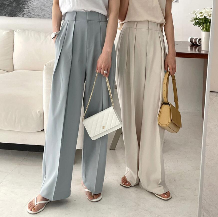 2021年春夏新作 レディース 韓国風 パンツ スーツスタイル 通勤 気質 ファッション 3色S-L