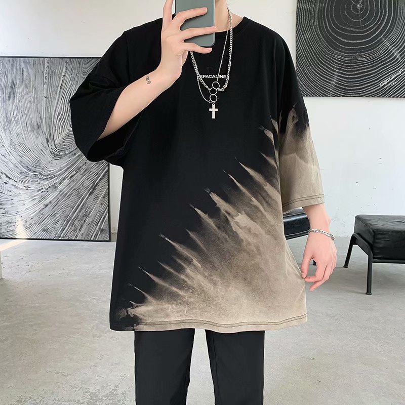 2021新品 メンズTシャツ 半袖 夏服 カジュアル 大きいサイズ 渋谷風 ストリート系☆全2色