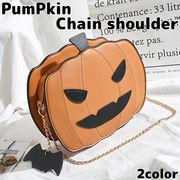 イタズラな表情のかぼちゃが可愛い チェーンショルダーバッグ クラッチバッグ SSA40 レディースバッグ