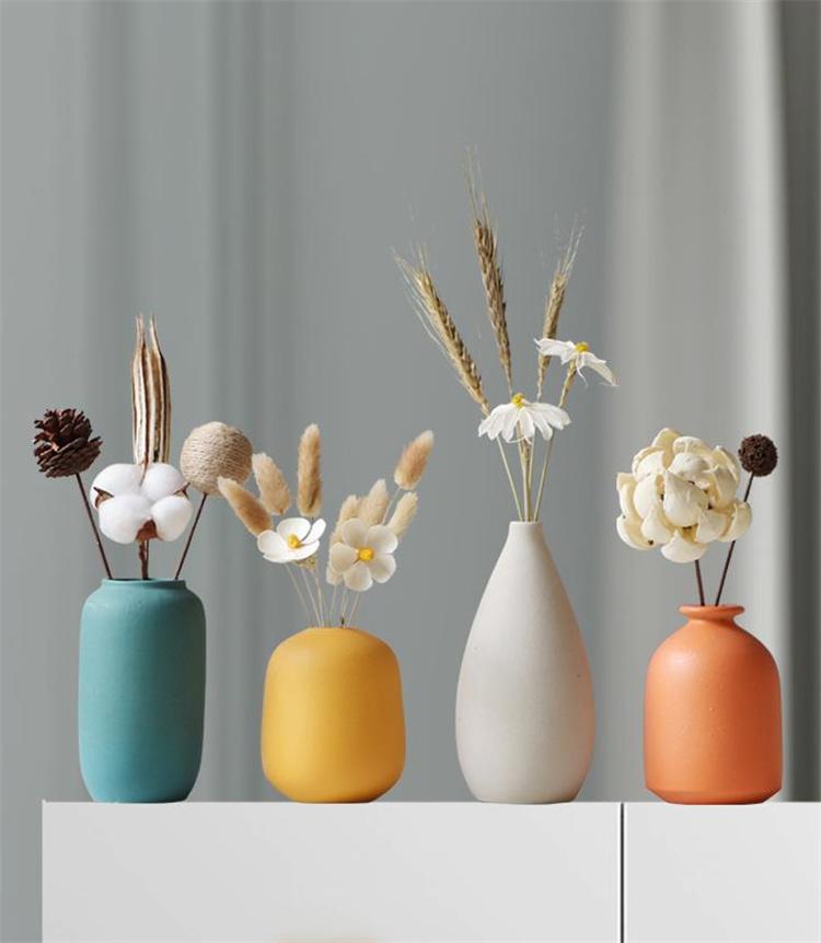 シルエットが美しい 激安セール 陶製の花瓶 装飾 家具 リビングルーム ドライフラワー