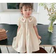 2021年夏新作 子供服 キッズ ベビー服 韓国風 ワンピース 半袖 女の子 かわいい 80-130