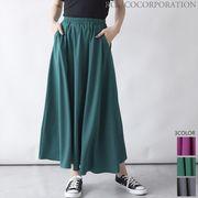 【2021新作商品♪】パネル ポケット付きフレアロングスカート