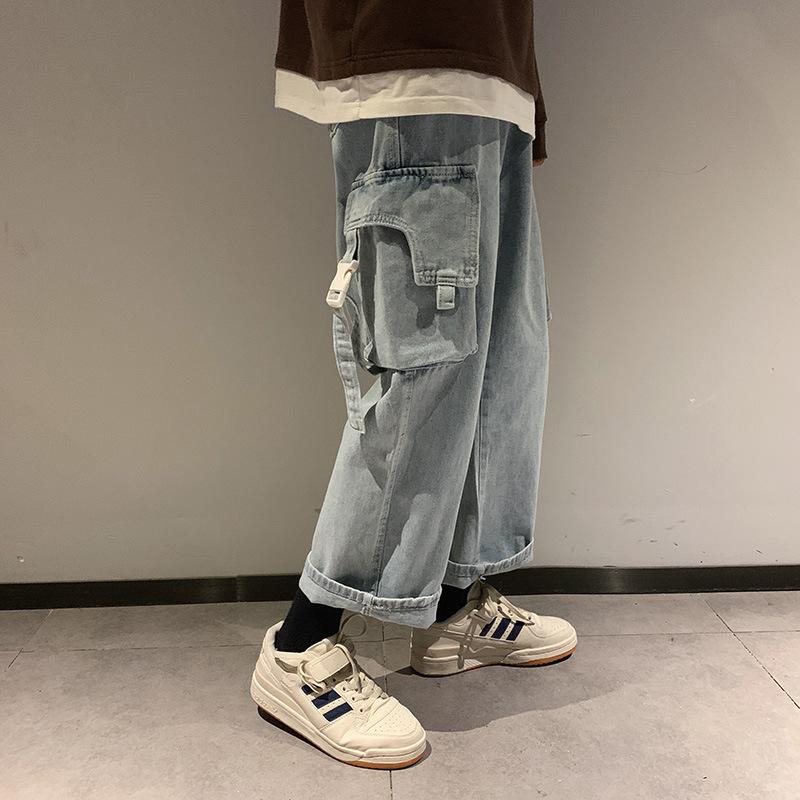 メンズ デニムパンツ ロングパンツ カーゴパンツ カジュアル 大きいサイズ★全2色