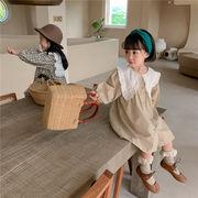 2021年秋冬新作 子供服 キッズ ベビー服 韓国風 ワンピース 長袖 女の子 かわいい 2色80-130