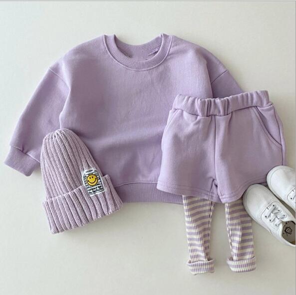 秋 新作 4色 ブラウス+パンツ 女の子 スポーツ セットアップ 子供服 キッズ  韓国ファッション