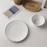 セラミック サラダボウル 家庭用 ピュアカラー 2点セット 食器 洋食 プレート  朝食プレート