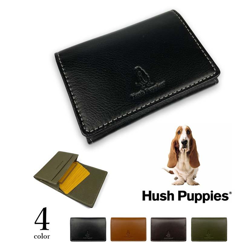 全4色 Hush Puppies ハッシュパピー リアルレザー バイカラー 名刺入れ カードケース