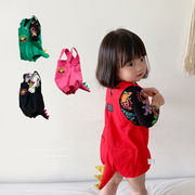 【特価】超可愛いロンパース 秋 新作 立体恐竜短パン  ベビー ポケット付き 韓国子供服  キッズ