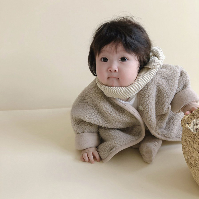 ベビーウエア カーディガン 女の子 男の子 子供用コート 2021秋冬新作 厚手 長袖トップス ポケット付き