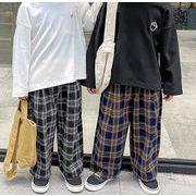 カジュアルパンツ 新作 長ズボン 春秋 子供服 チェック 韓国スタイル 女の子 男の子 韓国子供服 キッズ服