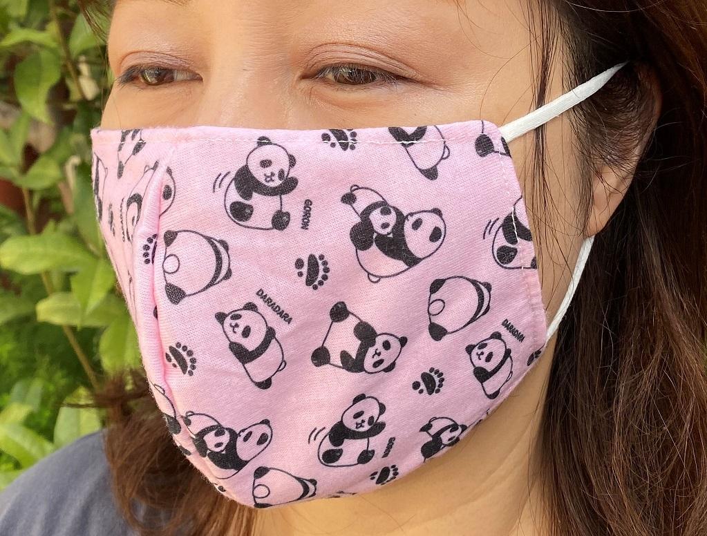 パンダ柄マスク