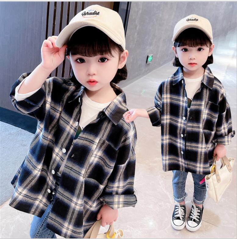 子供服 シャツ キッズ 子ども 秋 かわいい ゆったり チェック カジュアル トレンド 人気