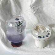 Newタイプついに入荷 INSスタイル ジュースカップ ソーダ 飲料カップ ガラス ひょうたん形