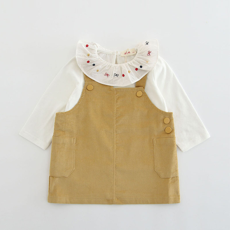 【KID】韓国風子供服 ベビー服 女の子 可愛い フリル 長袖 セットアップ