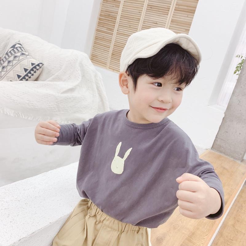 【KID】韓国風子供服 ベビー服 男女兼用 うさぎ 長袖 トップス Tシャツ