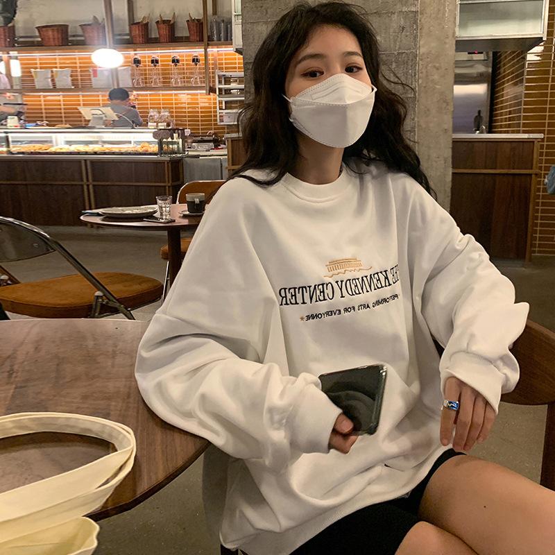 【Women】2021年春夏新作 韓国風レディース服 トップス 長袖シャツ Tシャツ フーディ