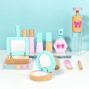 新製品木製トイレタリー化粧品シミュレーション化粧品バッグ女の子プレイハウス化粧おもちゃセットメーカー